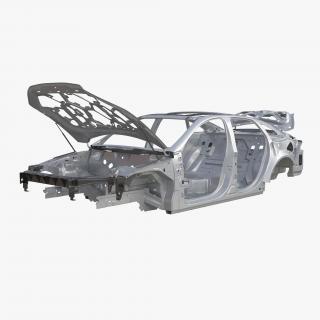 3D Car Frame 5 Rigged model