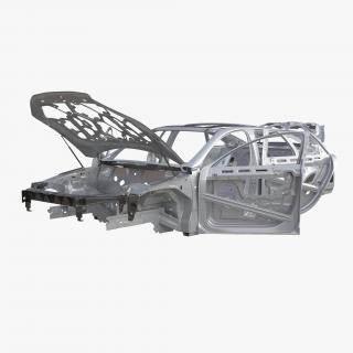 3D Car Frame 6 Rigged model