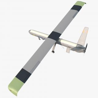 Elbit Hermes 450 Israel UAV Rigged 3D model