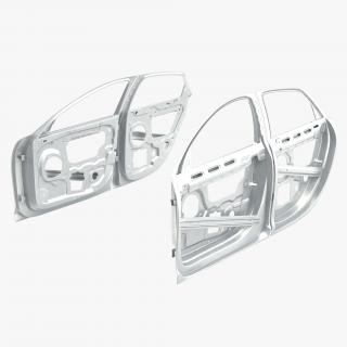 3D Car Door Frames 3D Model Rigged