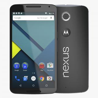 3D model Google Nexus 6 Black