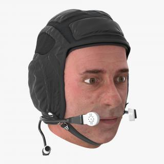 Pilot Head Rigged 3D