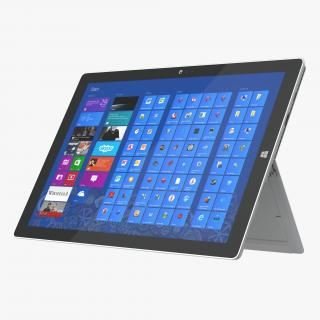 3D model Microsoft Surface Pro 3 Tablet