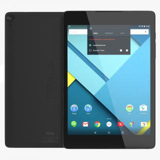 Google Nexus 9 Gray 3D model