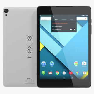 3D model Google Nexus 9 White
