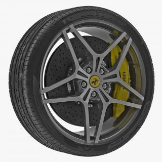 3D Ferrari Wheel model
