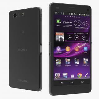 3D Sony Xperia Z3 Compact Black model