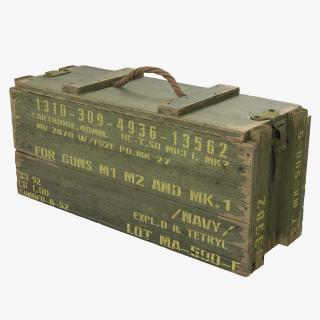 3D Ammo Crate Green