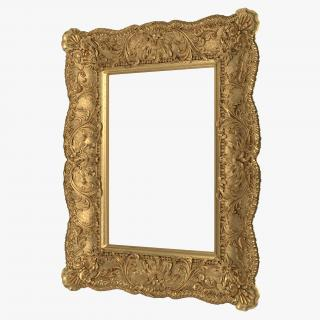 Gilt Painting Frame 3D model