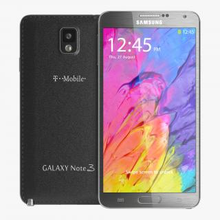 Samsung Galaxy Note 3 Black 3D