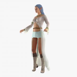 Female Elf Rigged 2 3D model