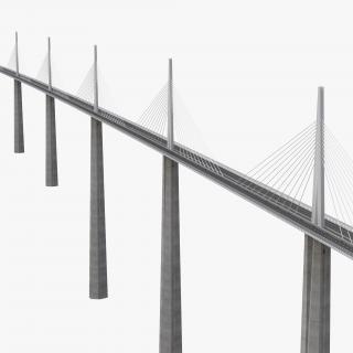 3D Millau Viaduct Bridge France model