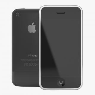 3D model Apple iPhone 2 Black
