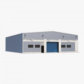 3D model Warehouse Building 2 Blue