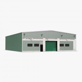 3D Warehouse Building 2 Green