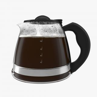 Coffee Carafe with Cofee 3D model
