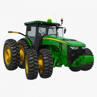 Tractor John Deere 8RT Rigged 3D model