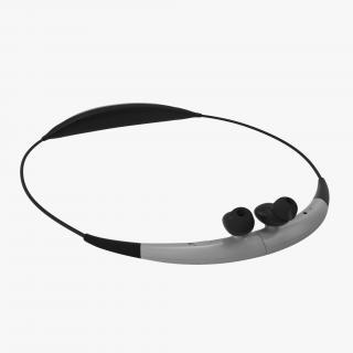 3D model Bluetooth Headset Samsung Gear Circle Folded Black