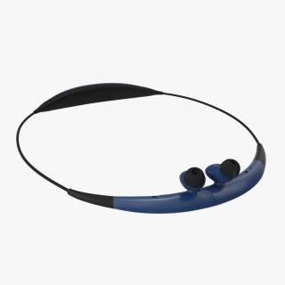 Bluetooth Headset Samsung Gear Circle Folded Blue 3D model