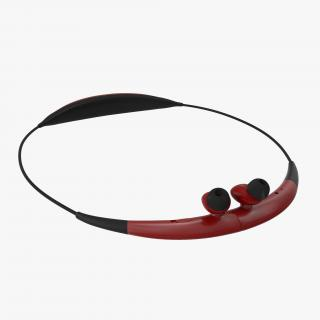 3D Bluetooth Headset Samsung Gear Circle Folded Red model
