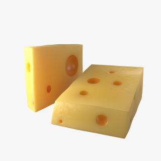 Cheese Wedge 3 3D model