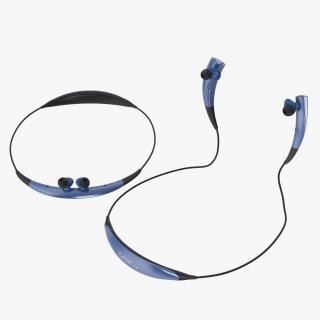 3D Bluetooth Headset Samsung Gear Circle Blue Set