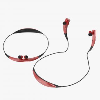 3D model Bluetooth Headset Samsung Gear Circle Red Set