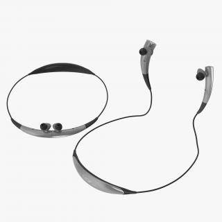 3D Bluetooth Headset Samsung Gear Circle Silver Set model