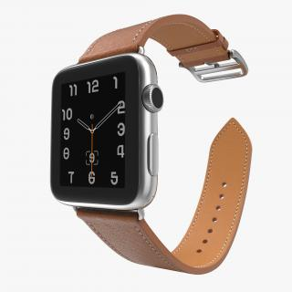 3D Apple Watch Hermes 42mm Stainless Steel Case 2