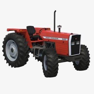 Tractor Massey Ferguson 385 Rigged 3D model