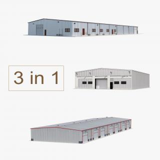3D model Warehouse Buildings 3D Models Collection
