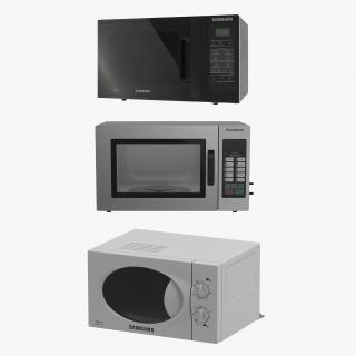3D Microwave Ovens 3D Models Collection 2 model