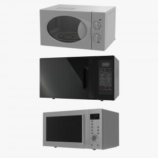 3D Microwave Ovens Generic 3D Models Collection 2