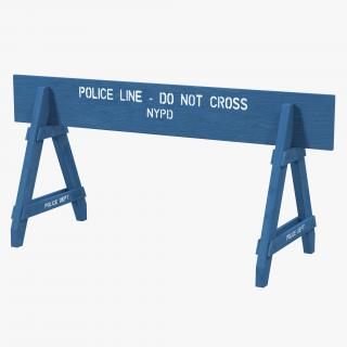 3D model NYPD Police Crowd Barrier