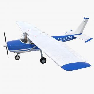 Cessna 150 Rigged 3D