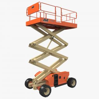 3D Engine Powered Scissor Lift JLG 2 model