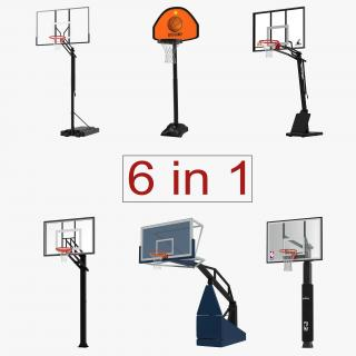 Basketball Hoops 3D Models Collection 2 3D model
