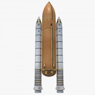 Space Shuttle Rocket Boosters 3D model