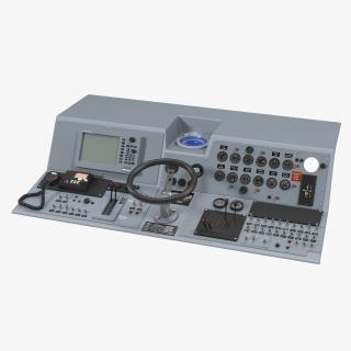 Military Boat Control Panel 2 3D model