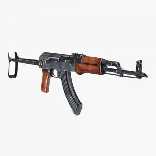 3D Assault Rifle AKMS model