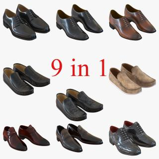 Man Shoes Collection 4 3D