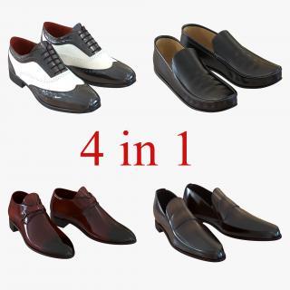Man Shoes Collection 5 3D