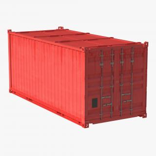 Collapsible ISO Container Red 3D model