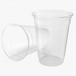 Solo Plastic Clear Cup 3D
