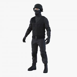 SWAT Man Rigged 2 3D