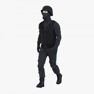 SWAT Man Rigged 3 3D