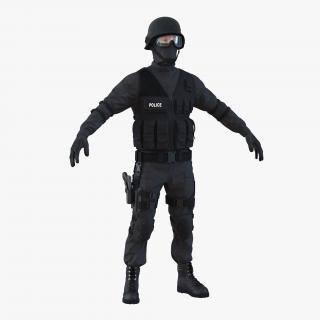 3D model SWAT Man