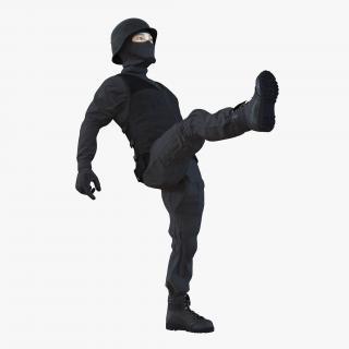 3D SWAT Man Asian Rigged 3 model