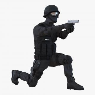 3D SWAT Man Asian Rigged