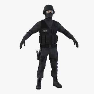 SWAT Man Asian 3D model